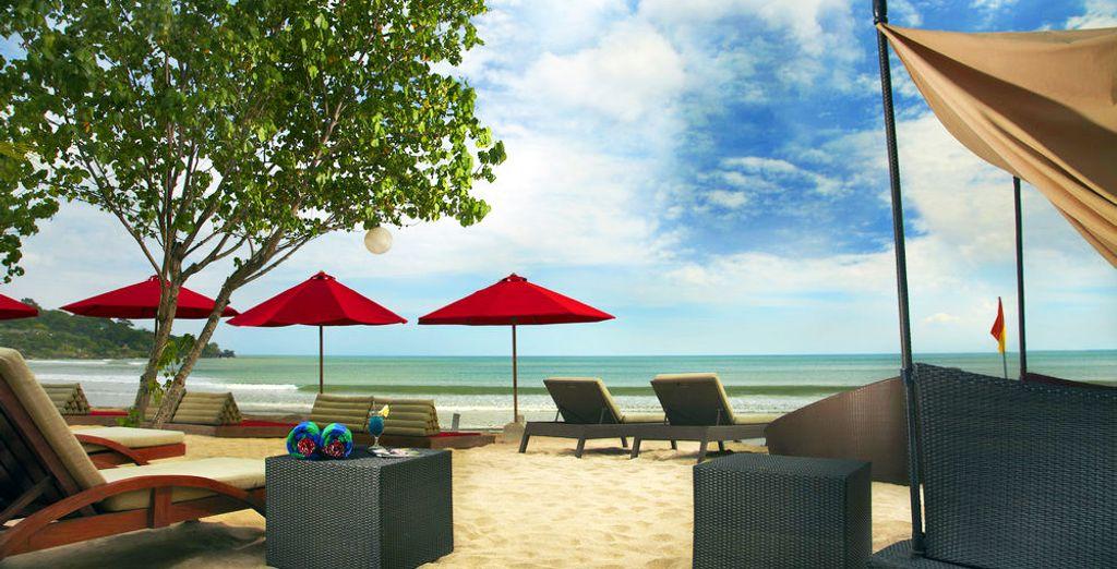 Oder im Beach Club des Kupu Kupu Jimbaran