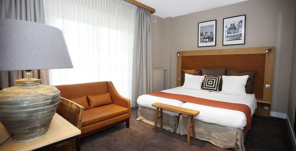 Übernachten Sie in einem Superior Zimmer im zeitgenössischen Design...