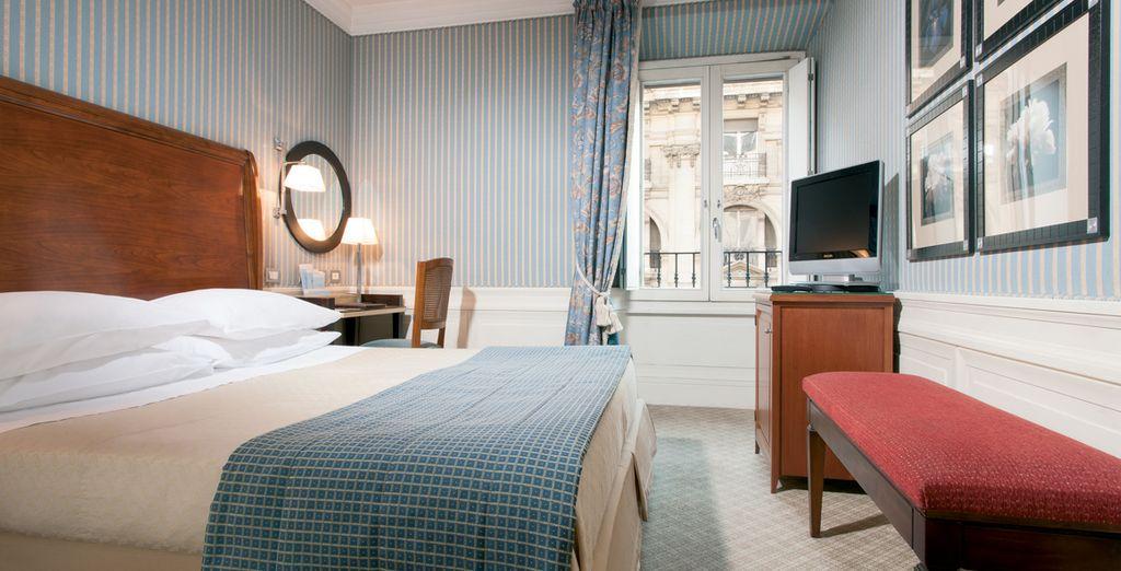 Acomódate en una de las relajantes habitaciones del hotel (imagen: Habitación clásica)