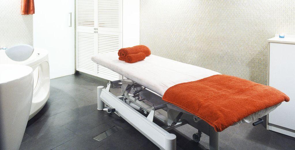 Y disfruta de un masaje con total intimidad