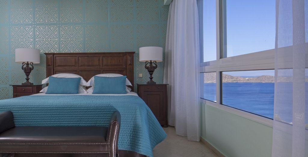 Las habitaciones son elegantes y cómodas