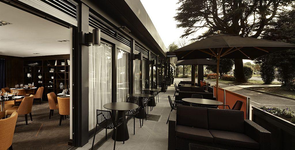 Se puede disfrutar en la terraza del restaurante