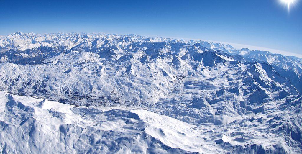 A 1.850 metros, Les Menuires te abre sus puertas