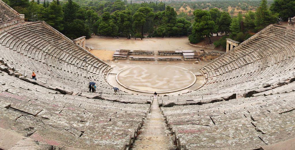 El teatro de Epidauro, con la mejor acústica del mundo