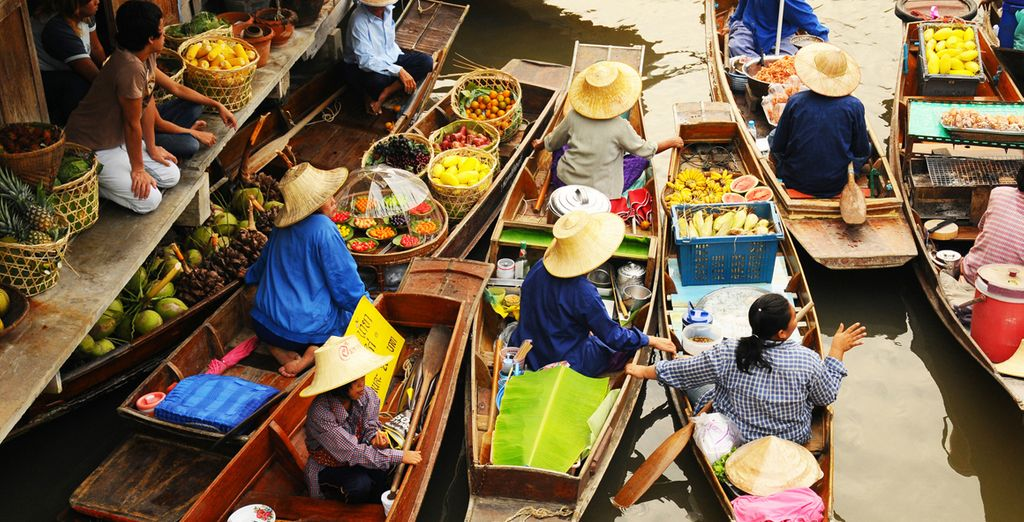 Visita obligatoria: el mercado flotante de Bangkok