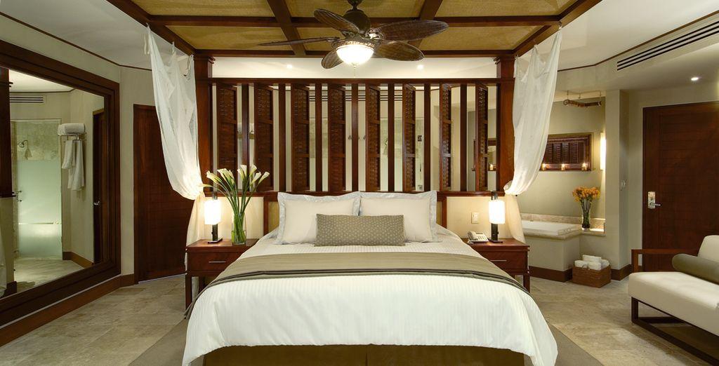 Elegantes habitaciones de estilo colonial