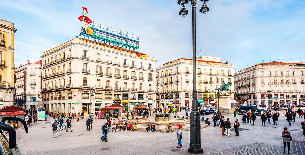 La puerta del sol - El centro de Madrid con niños