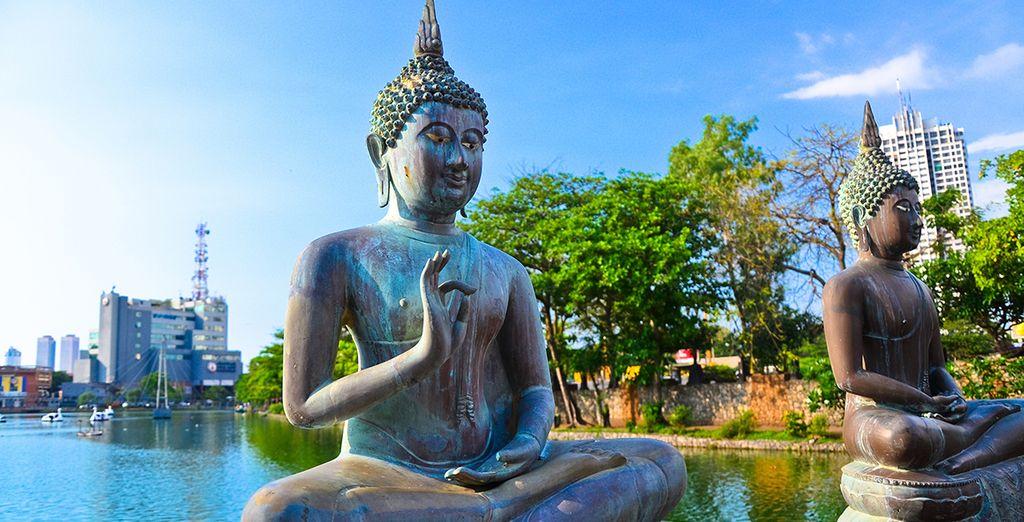 Visite el Templo Seema Malaka en Colombo