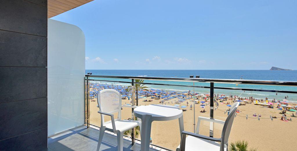 Con su terraza privada tendrá unas espectaculares vistas al mar