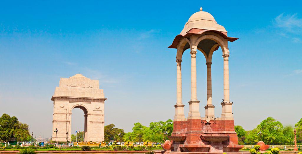 Hasta llegar a la imponente Puerta de la India