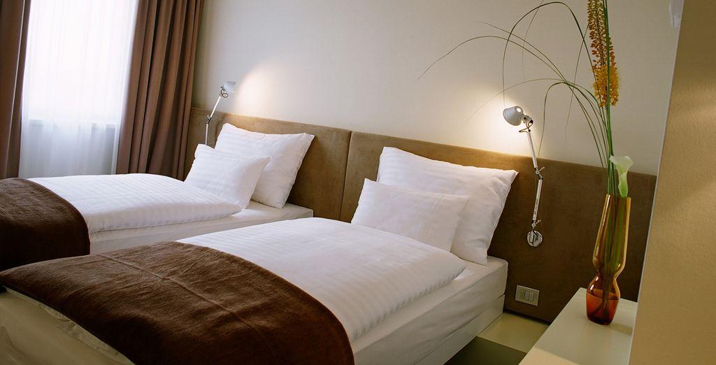 Sus habitaciones se caracterizan por un diseño muy especial en colores vivos