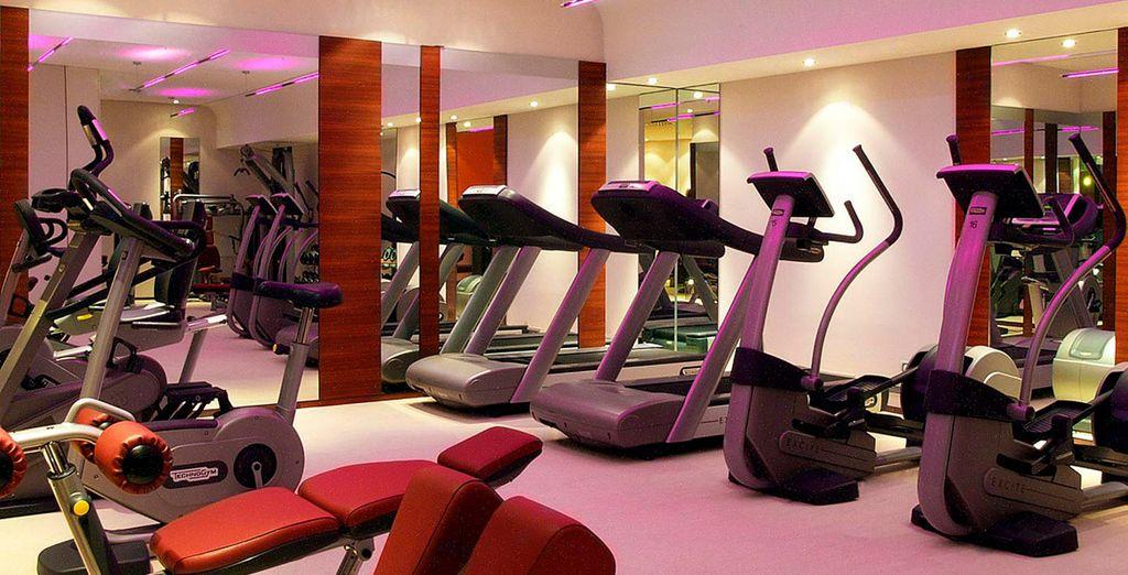 Y a la zona Fitness del hotel