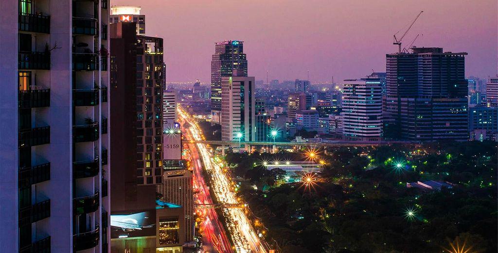 Disfruta de las fantásticas vistas sobre Bangkok