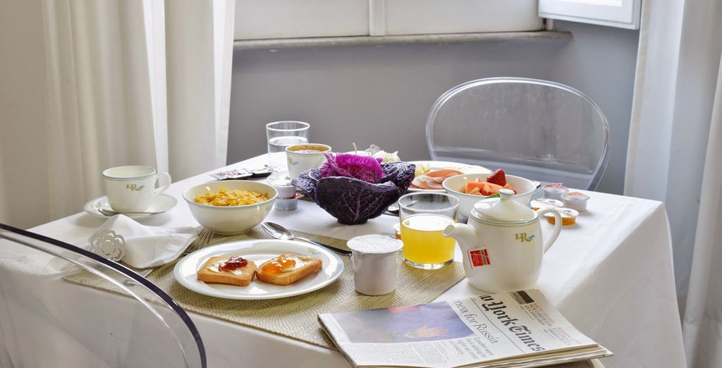 Todos los días se sirve un desayuno continental...