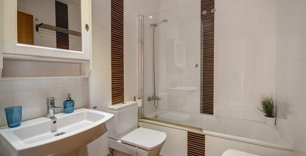 Apartamento 3: baño equipado