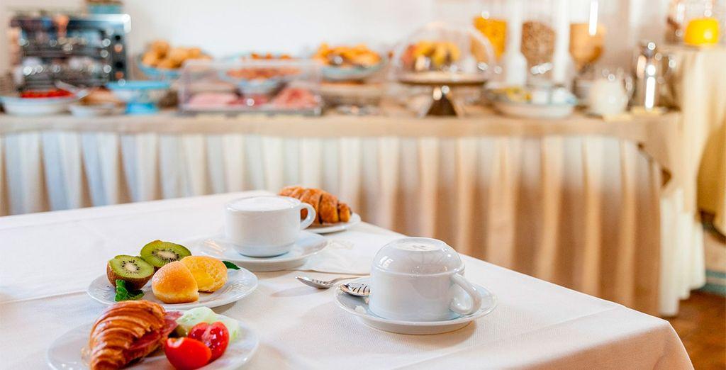 Disfruta de tu desayuno incluido