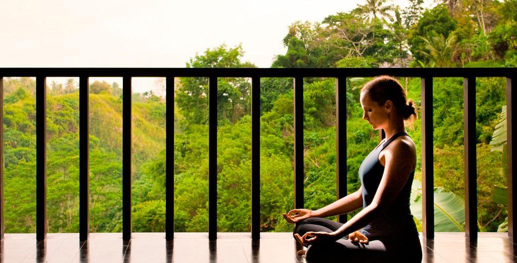 Y practique la meditación o el Yoga en un lugar único