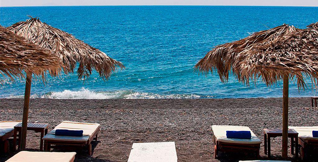 Bienvenido a Kamari, Santorini