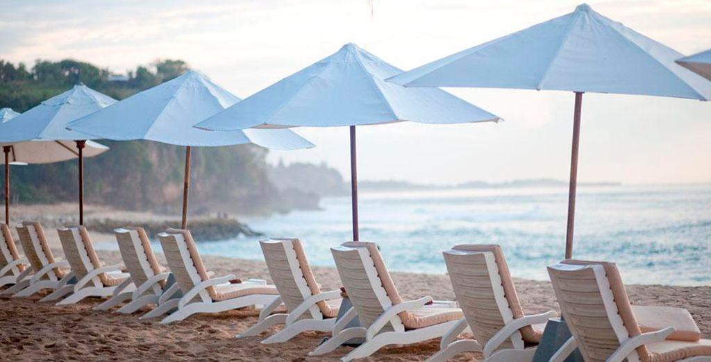 Tome el sol en la playa