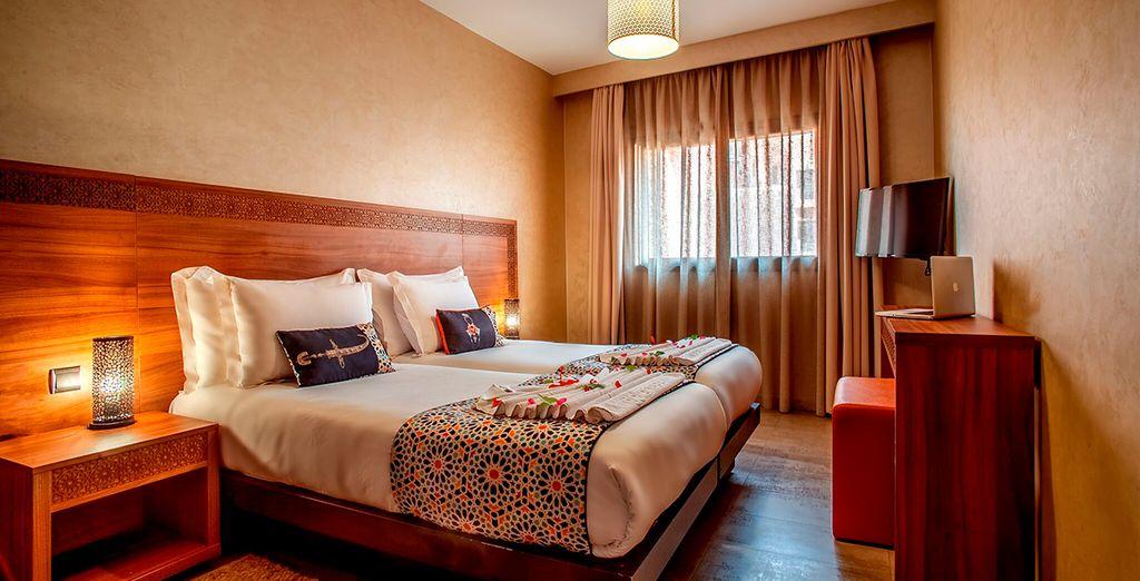 ...y un gran dormitorio