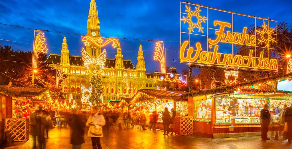 Aproveche su visita a Viena y visite los típicos y pintorescos mercadillos de navidad