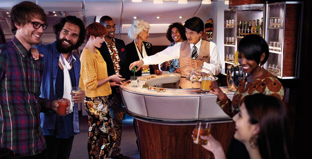 ... que es exclusiva para los clientes que vuelan en Primera clase y clase Business