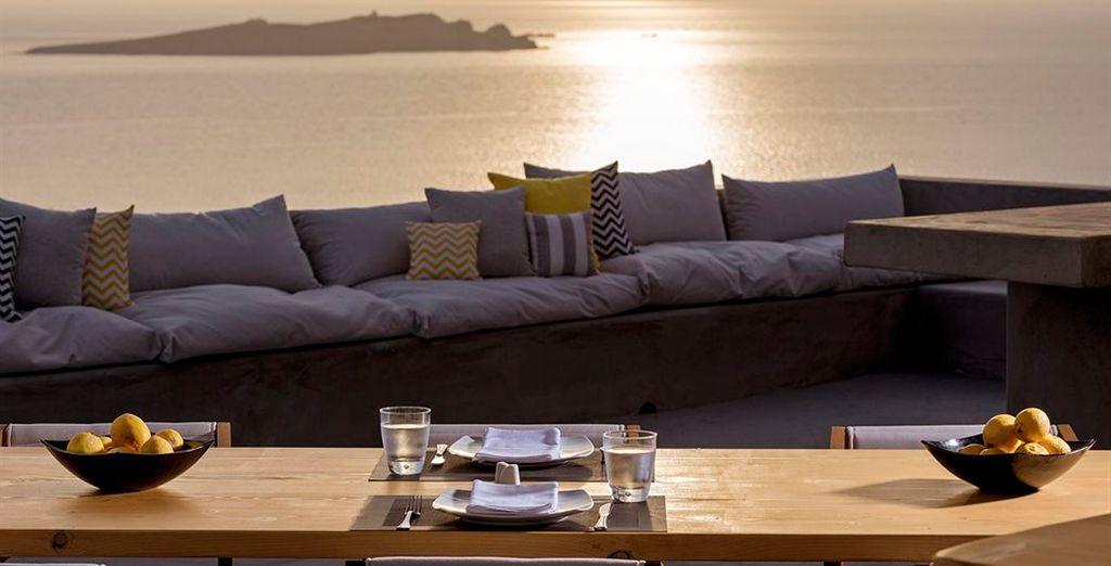 Disfrutará desde la terraza de impresionantes atardeceres