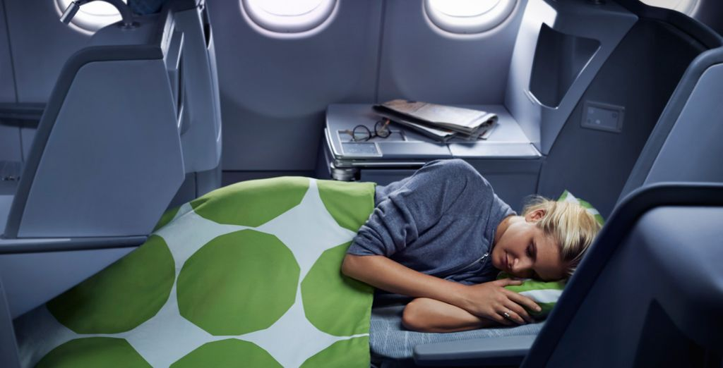 Los asientos de Finnair están diseñados para descansar y disfrutar del vuelo