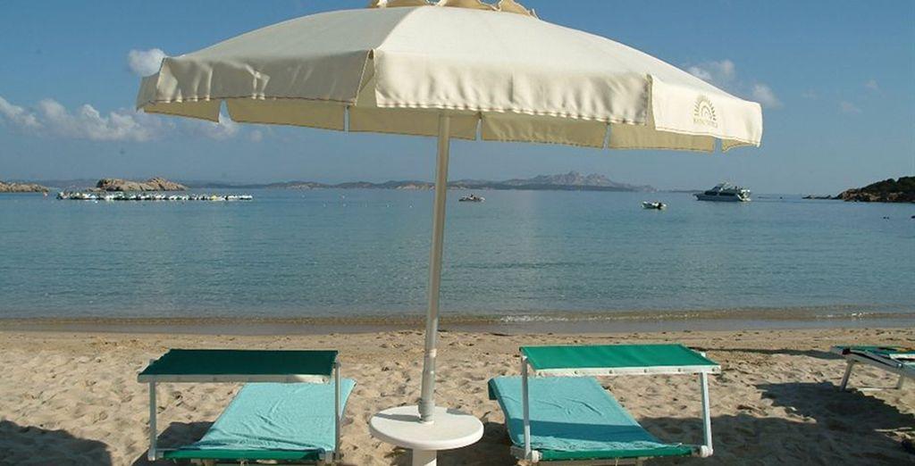 Disfrute de la playa privada