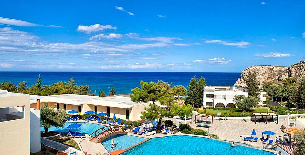 Un hotel en la mejor playa de Rodas