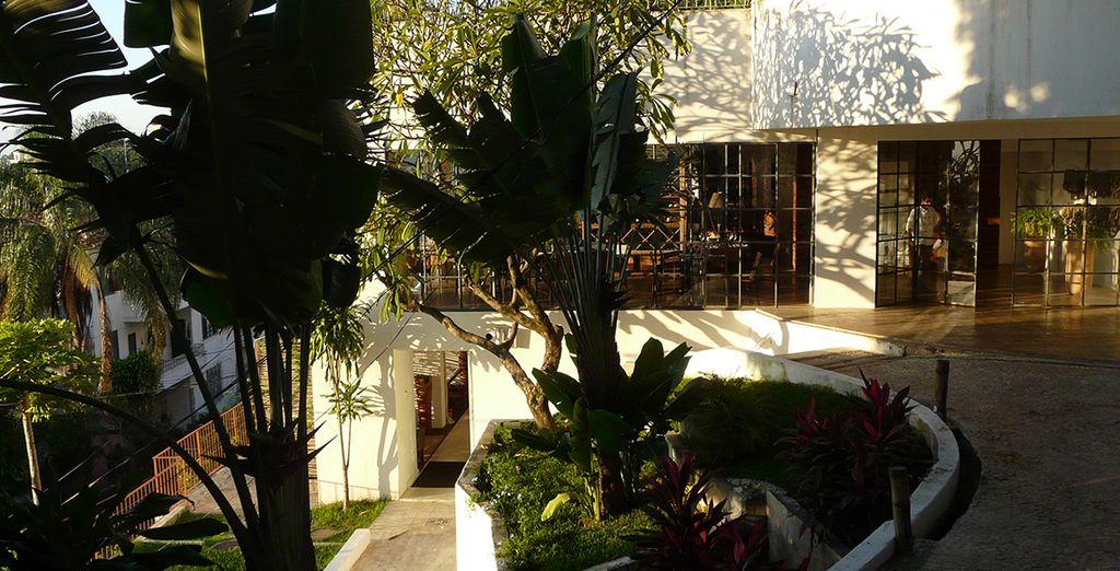 Tranquilidad y la seguridad de sus jardines tropicales