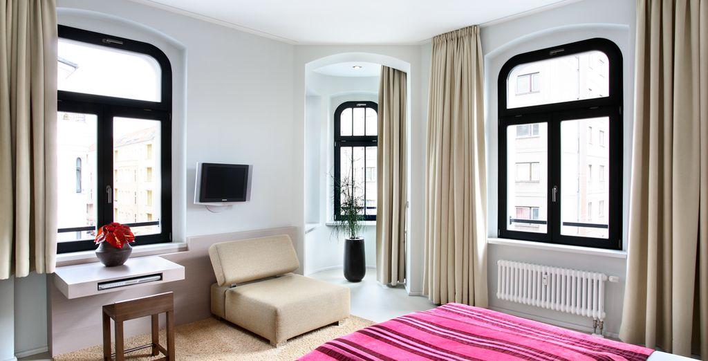 Su apartamento Deluxe donde se alojará