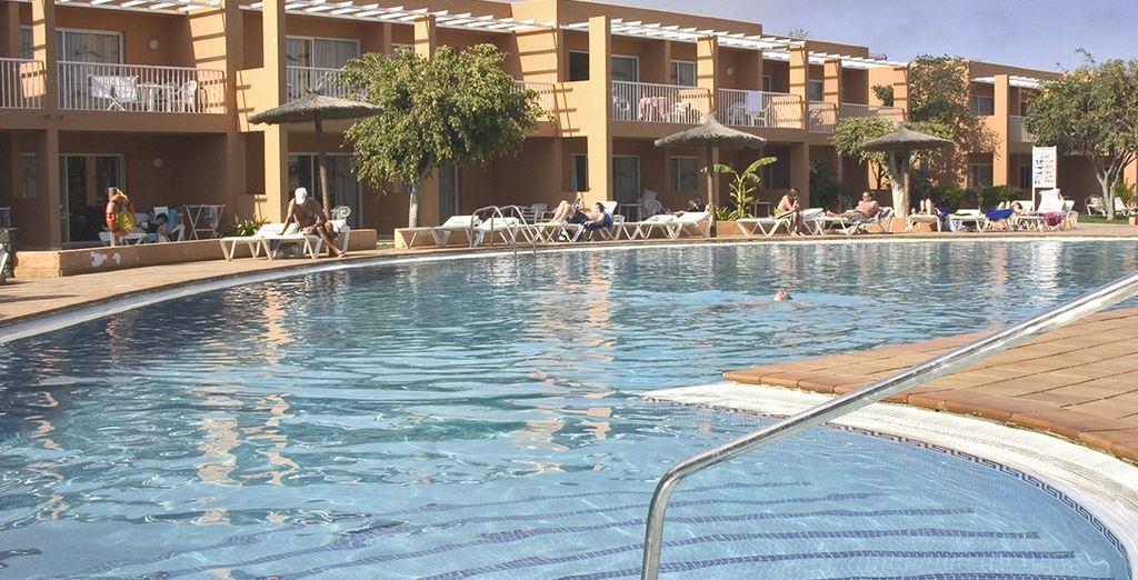 Refrésquese en la increíble piscina