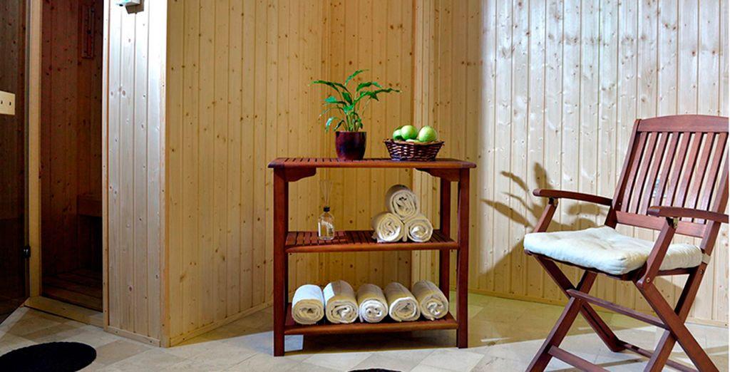 Relájese en la sauna del establecimiento