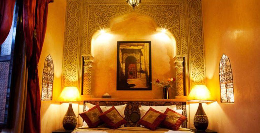 Las habitaciones son muestra del toque refinado y oriental
