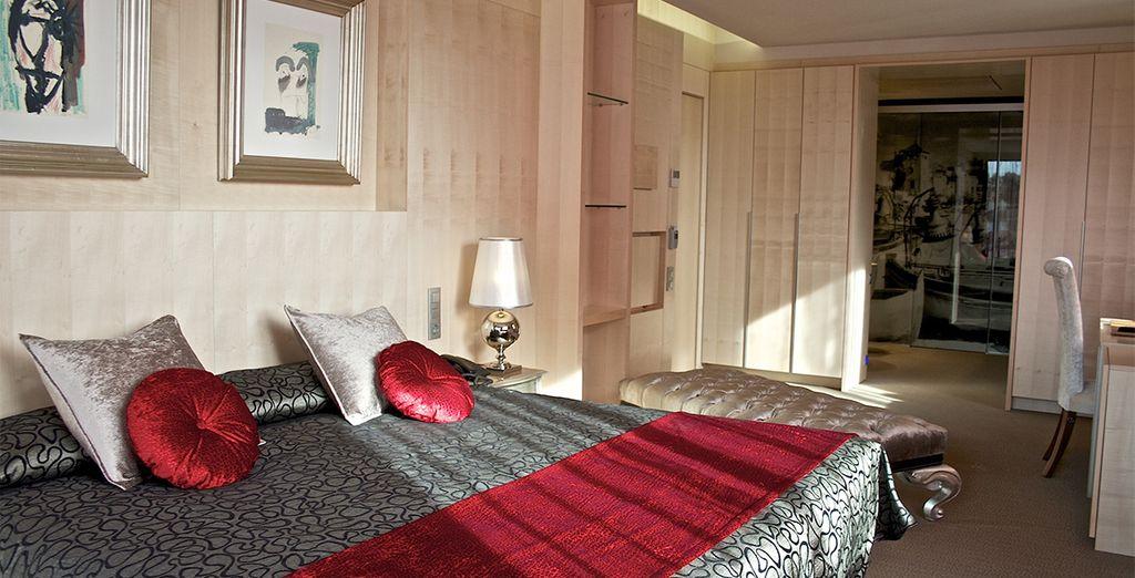 Su alojamiento en una habitación amplia y confortable que le garantiza un descanso extraordinario