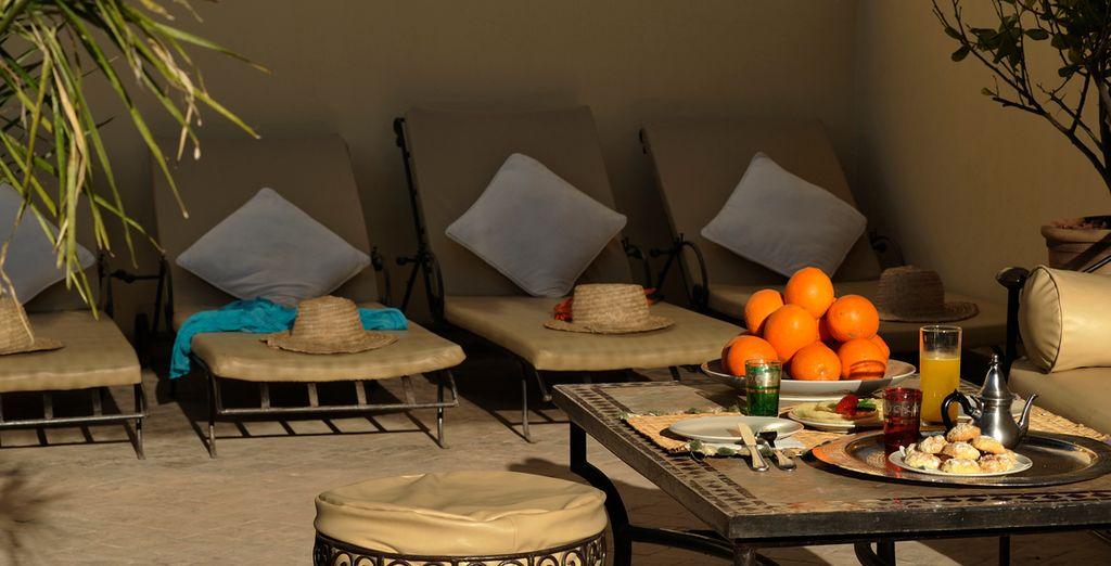 ...en este paraíso de Marrakech