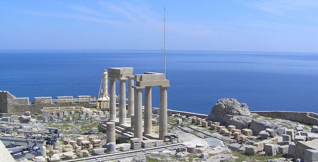 Visitará Rodas, una antigua ciudad medieval que conserva los vestigios de su pasado