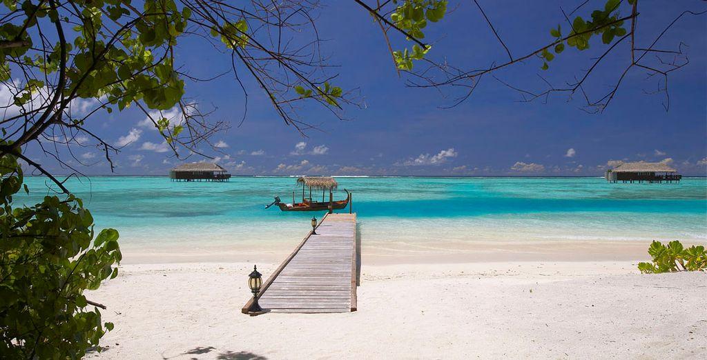 Playas de arena blanca y agua turquesa