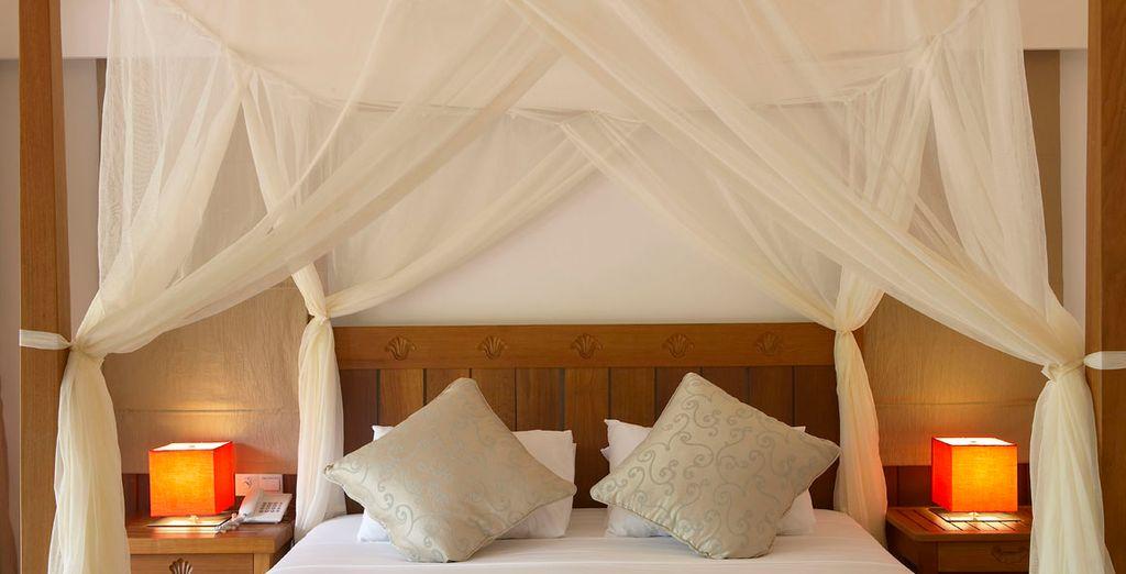 Descanse en esta maravillosa cama