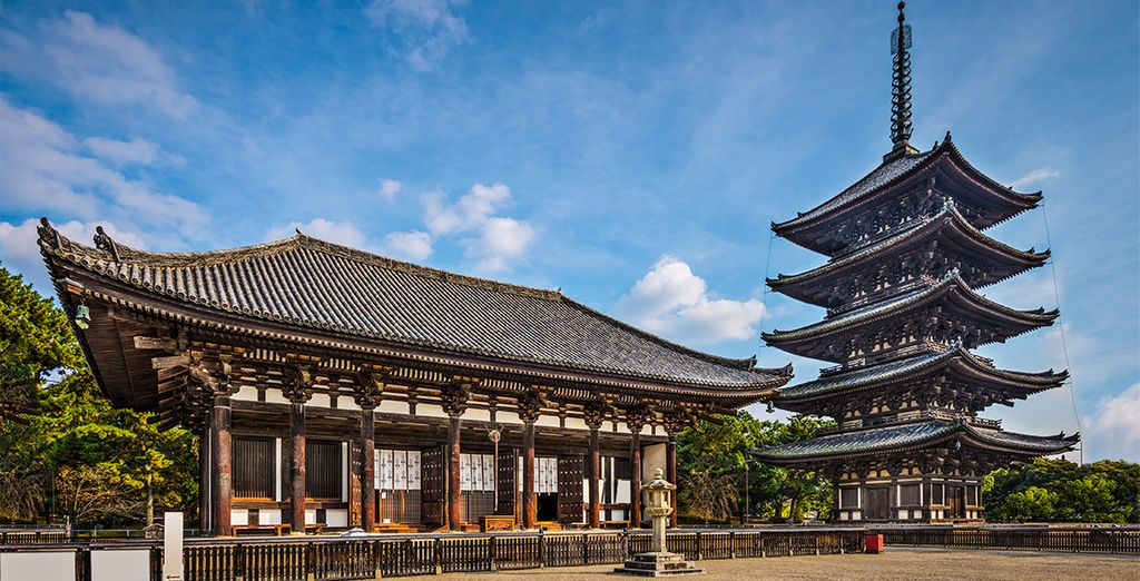 Templo Kofukuji, con su torre de 5 pisos