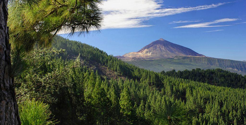 Vistas al Teide, el volcán más alto de España
