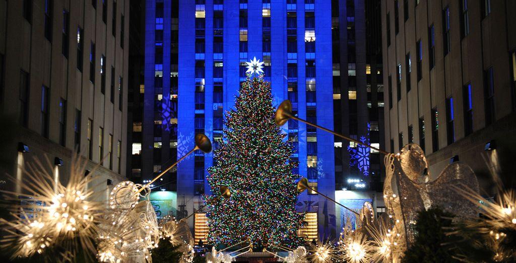 No olvide visitar el mítico árbol navideño de Rockefeller Center