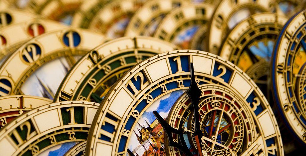 Réplicas del reloj emblemático de Praga