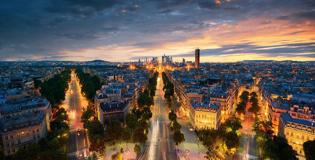 Vista de la ciudad de París