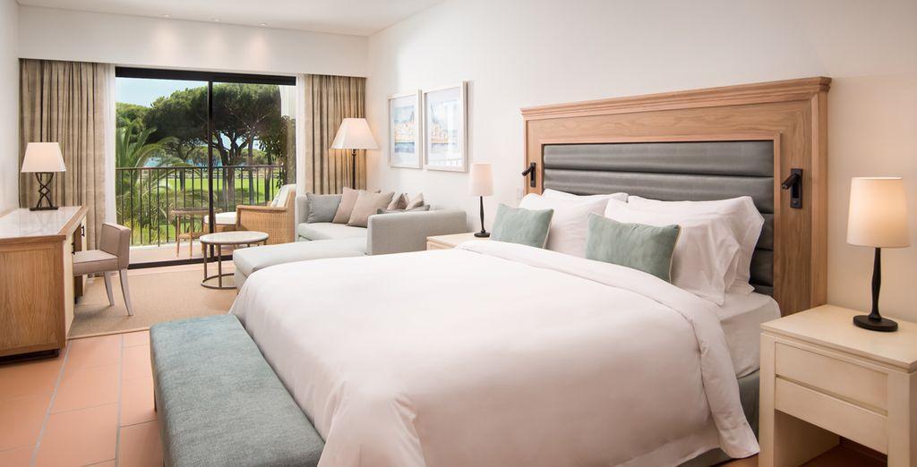Te alojarás en una fantástica Suite Ocean con vistas al resort