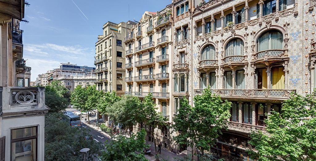 En pleno centro de Barcelona, modernismo en estado puro