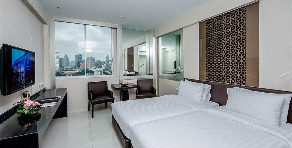 Una habitación totalmente equipada para su descanso