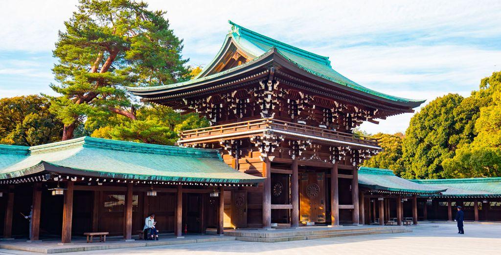 Visitará el famoso santuario de Meiji de confesión budista sintoísta