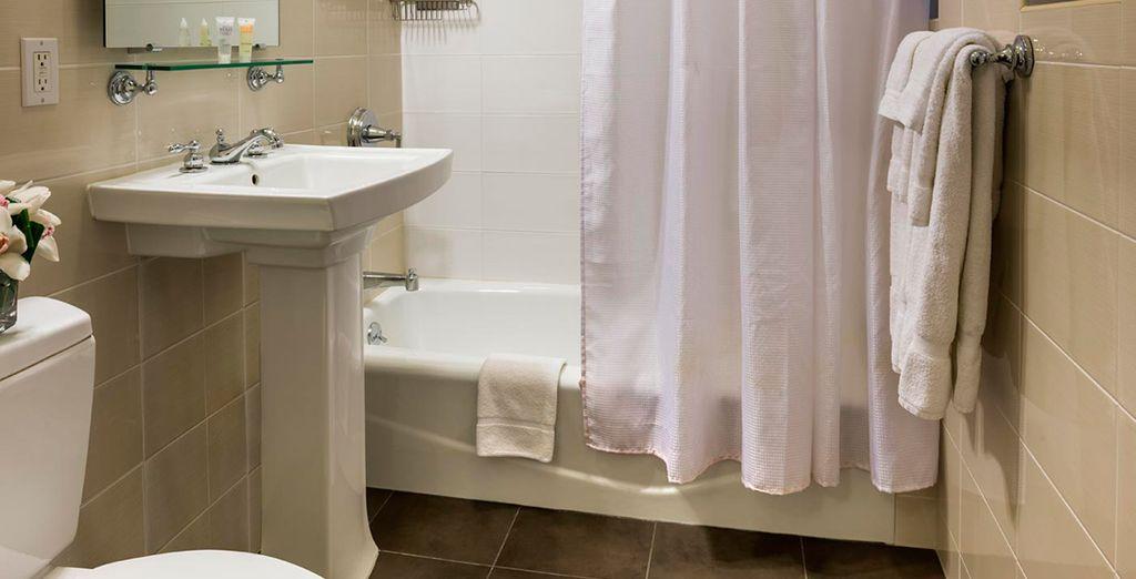 Baño privado equipado para su comodidad
